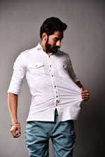 Stretchable White Hunting Shirt