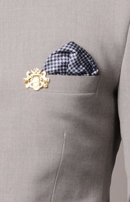 Light Grey Bandhgala Jodhpuri Suit