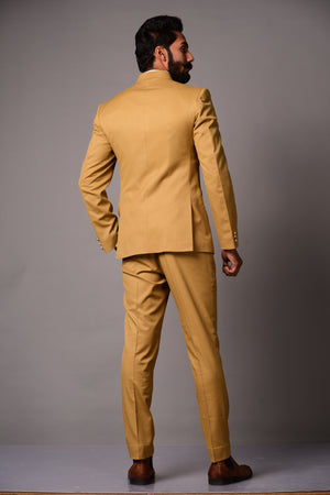 Golden Brown  Bandhgala Jodhpuri Suit