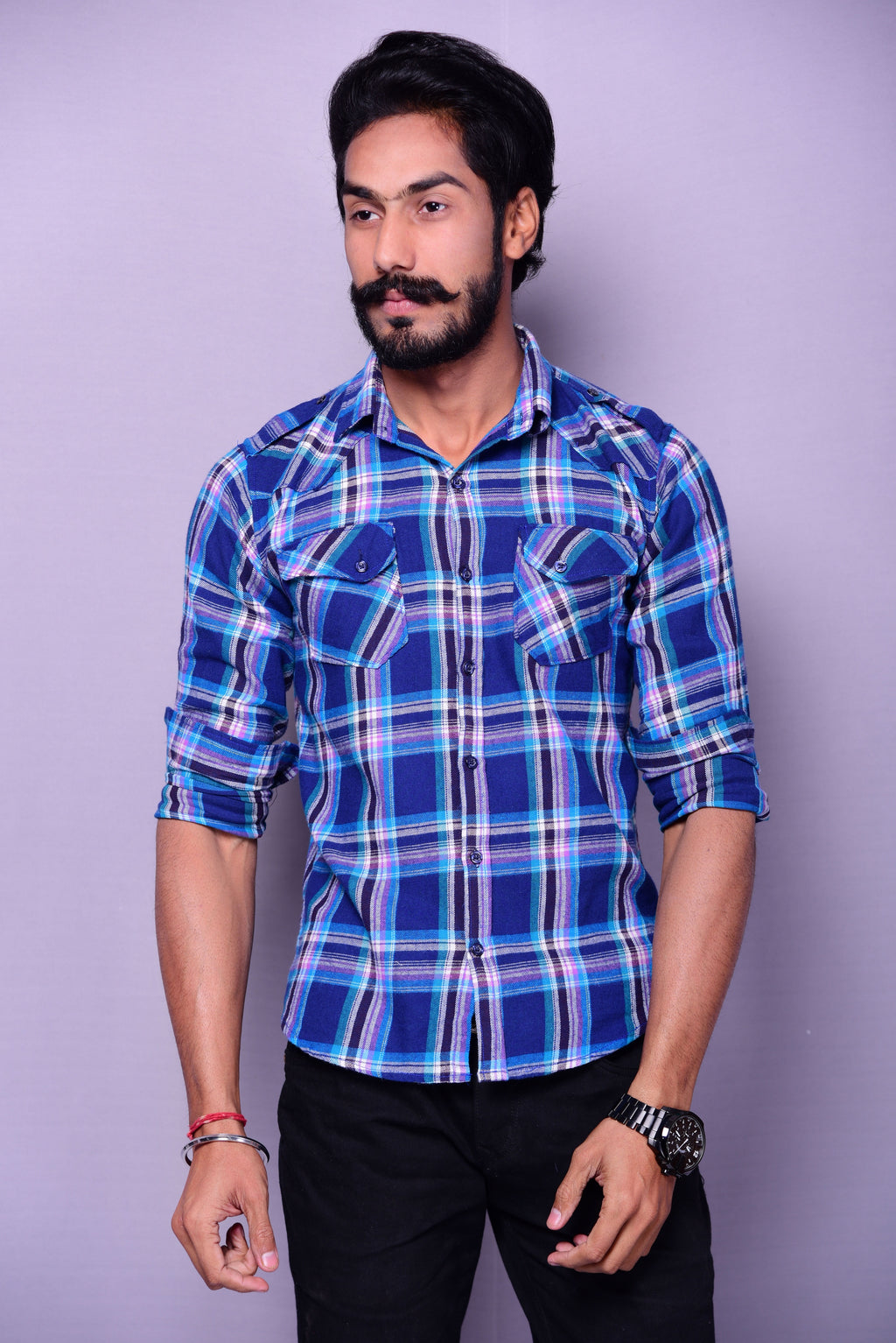 Blue Checks Semi-Hunting Shirt
