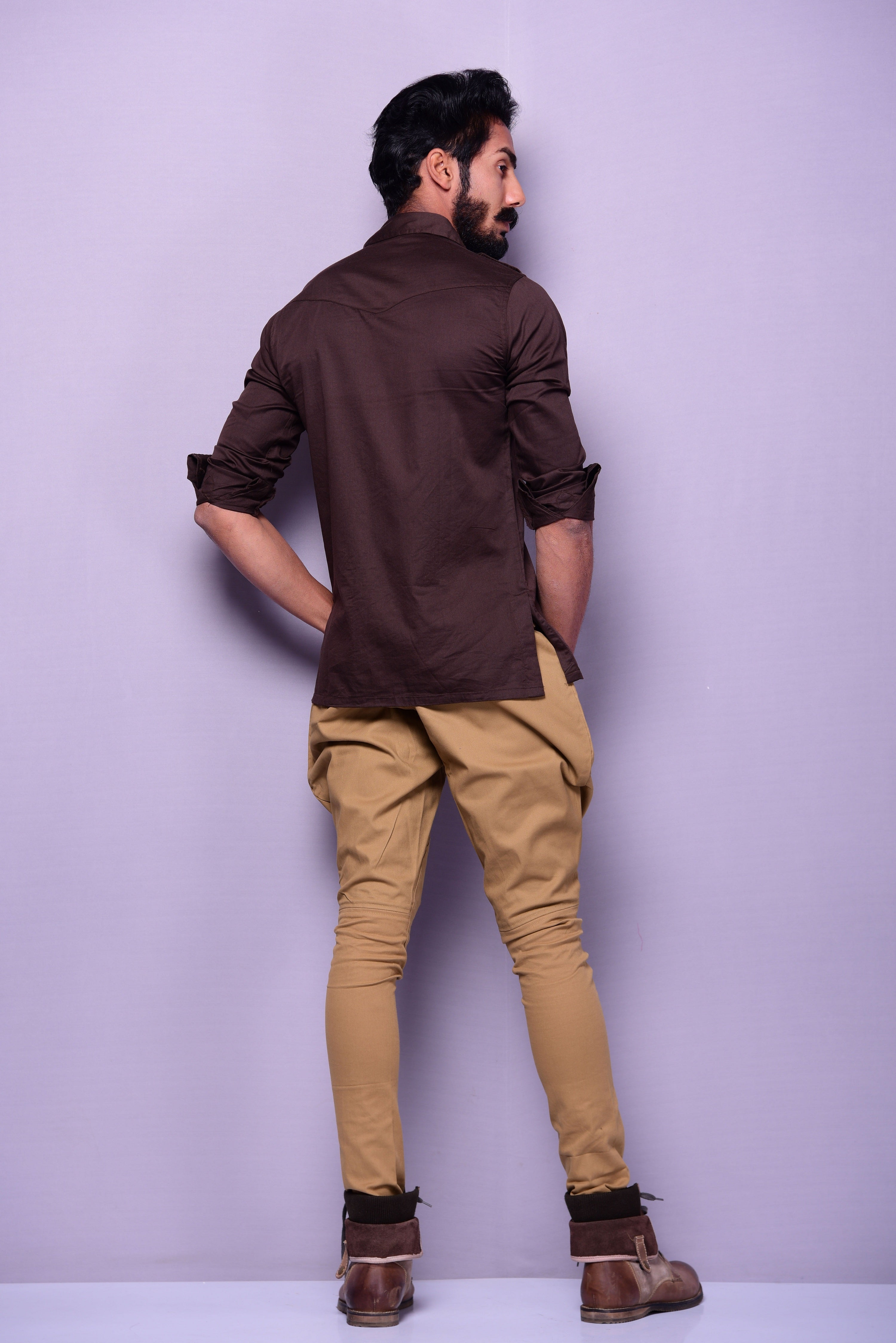 Coffee Brown Color Semi Hunting Shirt