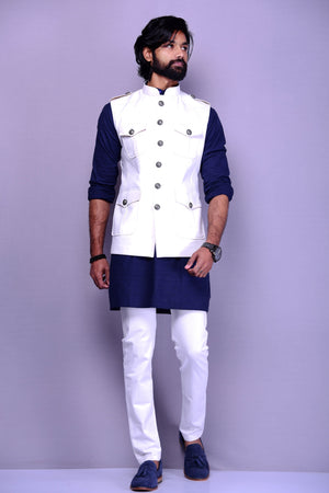 White Colour Semi Hunting Jacket