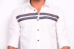 Essential White Stripe Men's Casual Shirt