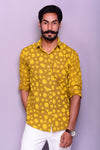 Lemon Dots Sanganeri Printed Shirt