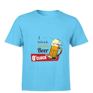 Beer O'Clock Round Neck T-shirt