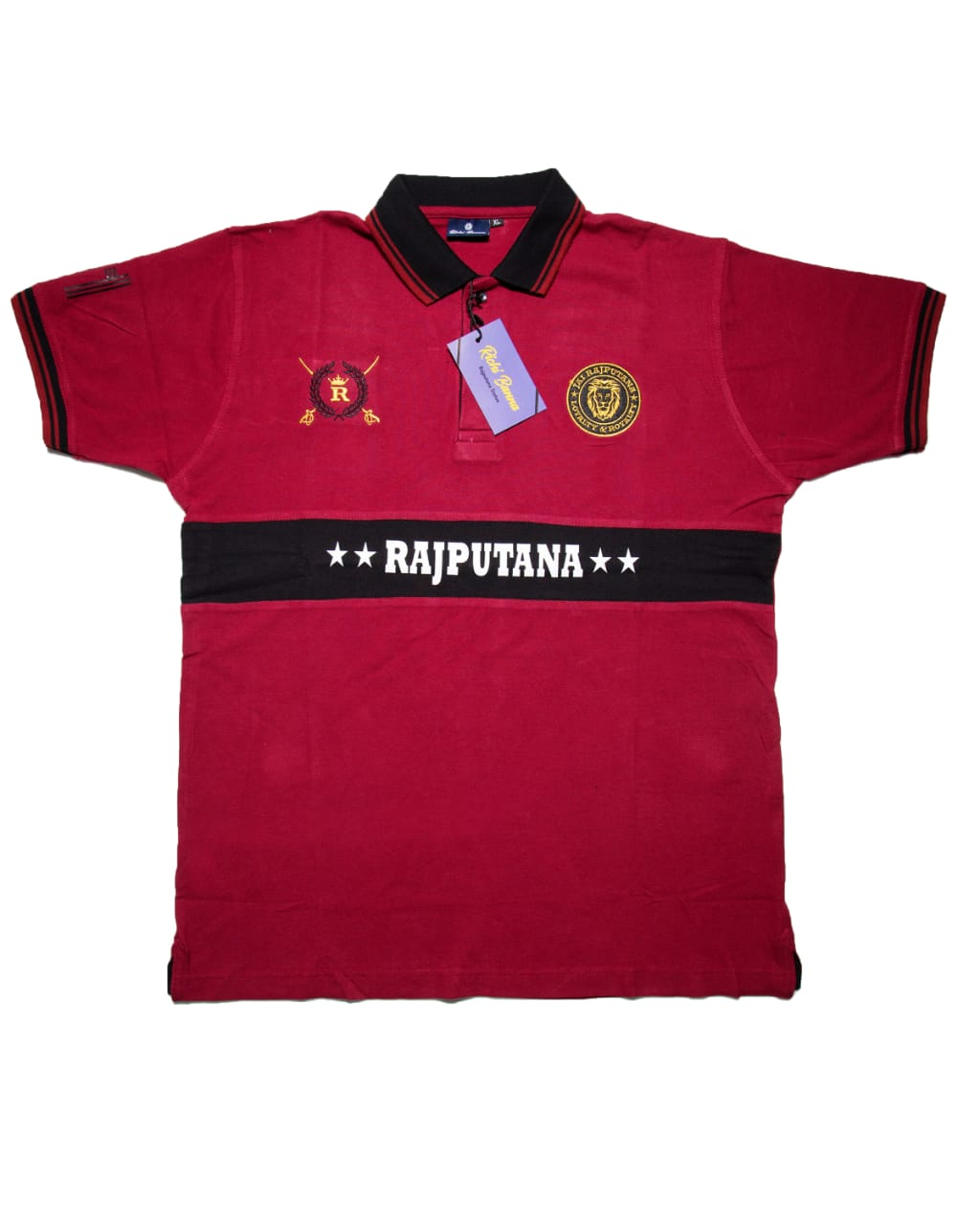 Dark Red Rajputana Polo T-Shirt
