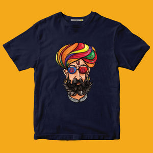 BABOSA'S SWAG PRINTED BLUE T-SHIRT