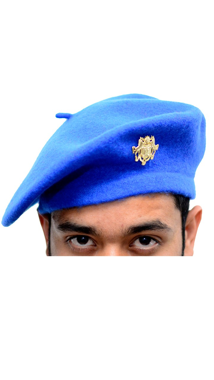 Rajanyas Royal Blue Woollen Beret