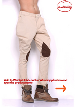 Fawn Colour Breeches with Coffee Brown Patch