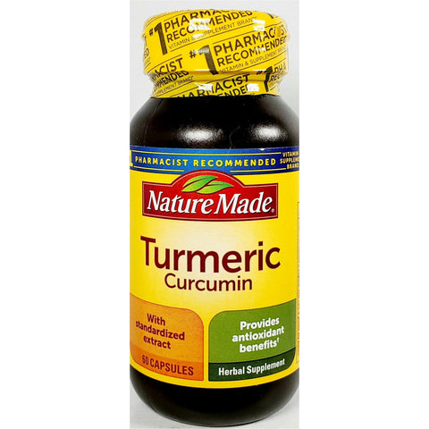 Nature Made Turmeric Curcumin, 500 mg 60 Capsules
