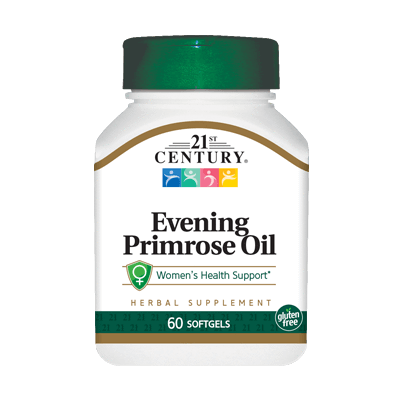 21st Century Evening Primrose Oil (Herbal Supplement), 60 Softgels (1 Pack)