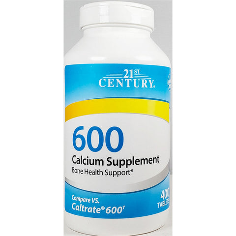21st Century 600 Calcium (Carbonate) 600 mg , 400 Tablets