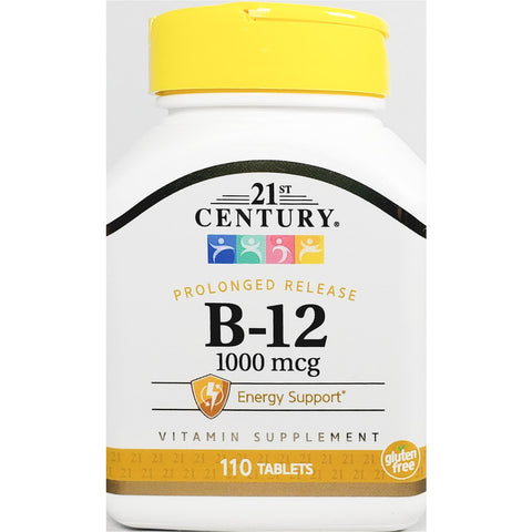 21st Century B12, 1000 mcg (Prolonged Release) 110 Tablets