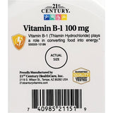 21st Century B1, 100 mg 110 Tablets