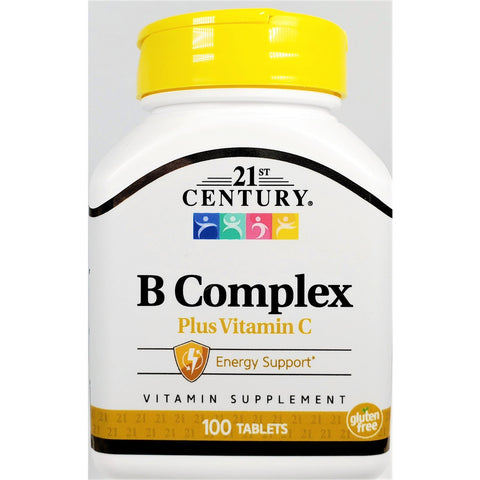 21st Century B Complex plus Vitamin C, 100 Tablets