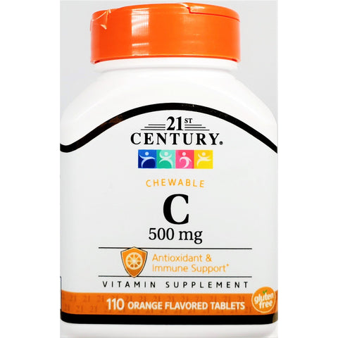 21st Century Chewable Vitamin C, 500 mg (Immune Support) 110 Tablets