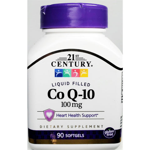 21st Century CoQ-10, 100 mg (Immune Support) 90 Liquid Filled Softgels