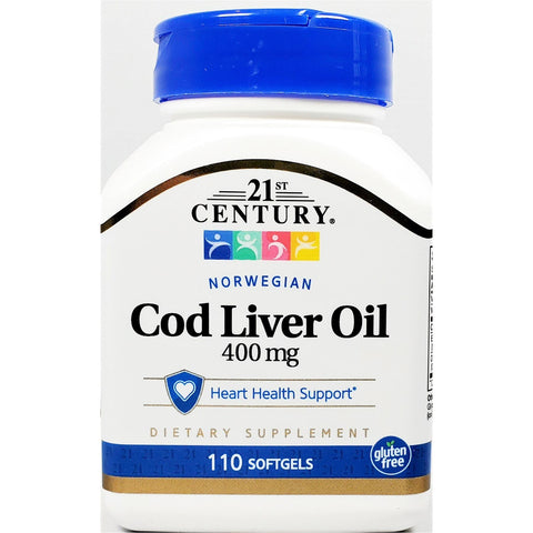 21st Century Cod Liver Oil, 400 mg 110 Softgels