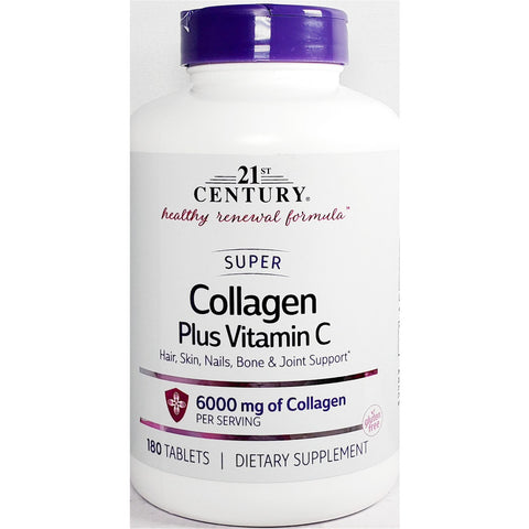 21st Century Collagen plus Vitamin C, 6000 mg 180 Tablets