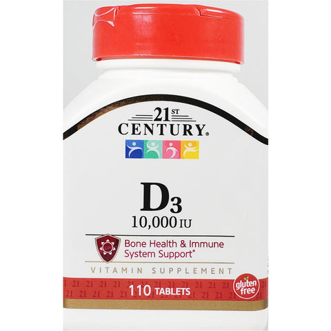 21st Century D3, 250 mcg (10,000 IU) 110 Tablets (Immune Support)