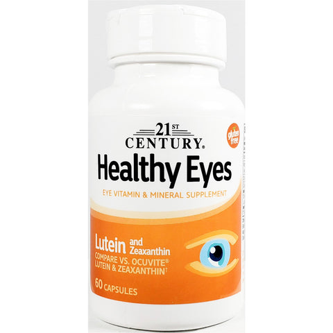 21st Century Healthy Eyes with Lutein & Zeaxanthin, (Compare to Ocuvite) 60 Capsules