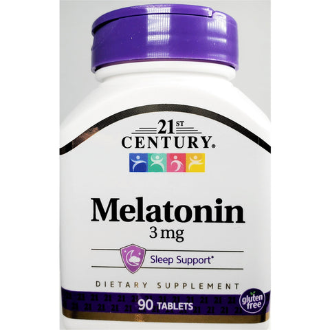 21st Century Melatonin, 3 mg 90 Tablets