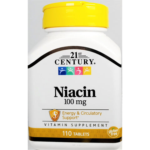 21st Century Niacin, 100 mg 110 Tablets