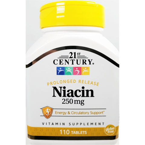 21st Century Niacinamide (Prolonged Release) 250 mg, 110 Tablets