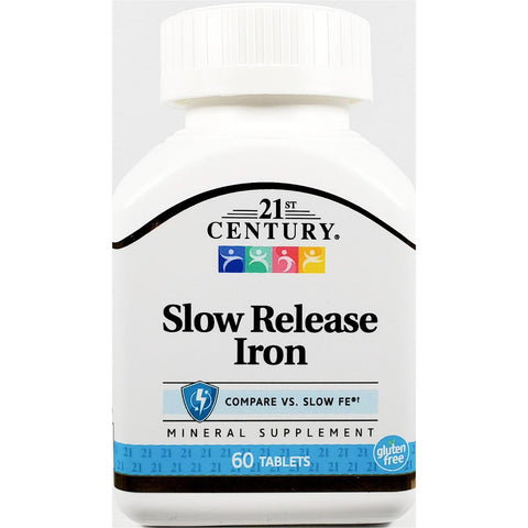 21st Century Slow Release Iron, 45 mg (Compare to Slow FE) 60 Tablets