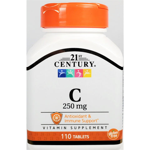 21st Century Vitamin C, 250 mg (Immune Support) 110 Tablets