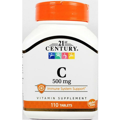 21st Century Vitamin C, 500 mg (Immune Support) 110 Tablets