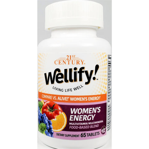 21st Century Wellify Women's Energy (Compare to Alive), 65 Tablets