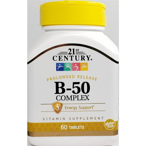 21st Century B-50 Complex (Prolonged Release), 60 Tablets