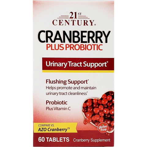 21 st Century Cranberry Plus Probiotic (Compare To AZO) 60 Tablets