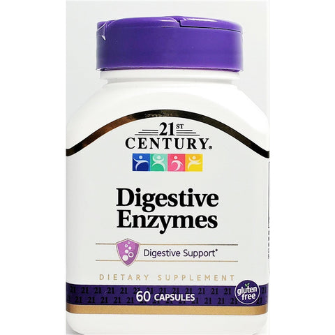 21st Century Digestive Enzymes, 60 Capsules