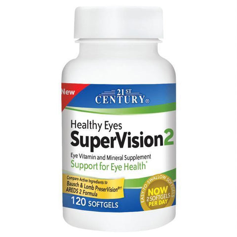 21st Century Healthy Eyes SuperVision 2, (Compare to PreserVision) 120 Softgels (1 Pack)