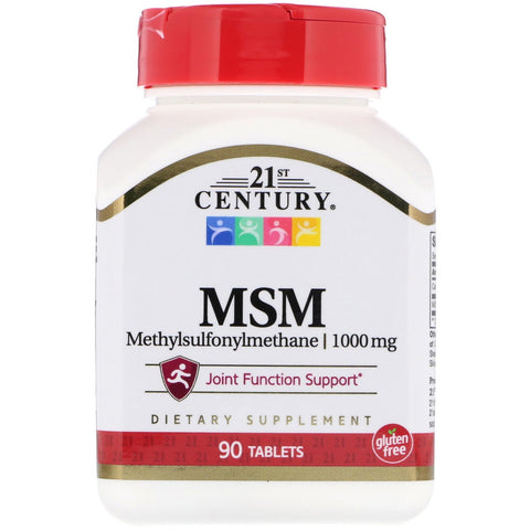 21st Century MSM, 1000 mg  90 Tablets