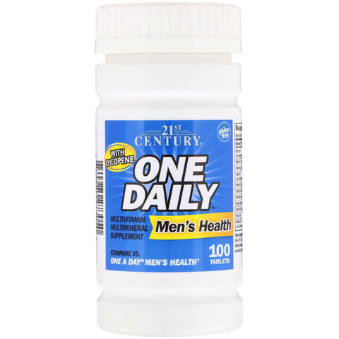 21st Century One Daily Men's Health Multivitamin/Multimineral (Compare to One a Day) 100 Tablets (1 Pack)