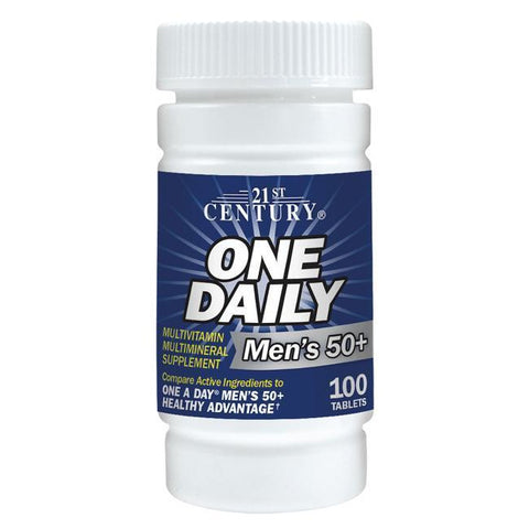 21st Century One Daily Men's 50 plus Multivitamin/Multimineral (Compare to One a Day) 100 Tablets (1 Pack)