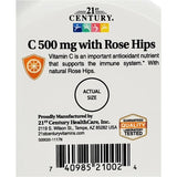 21st Century Vitamin C With Rose Hips, 500 mg