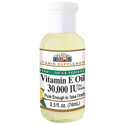21st Century Vitamin E Oil (100% Vegetarian), 2.5 fl oz 30,000 IU (1 or 3 Pack)