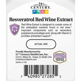 21st Century Resveratrol Red Wine Extract