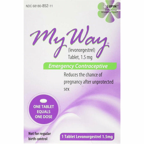 My Way Emergency Contraceptive (Compare to Plan B One-Step) 1 Dose (1 Pack)