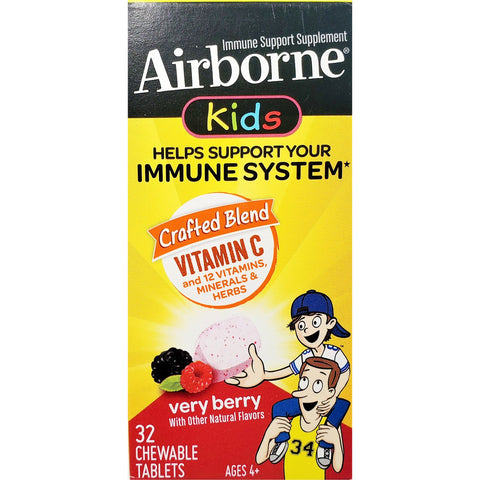 Airborne Kids Vitamin C (Immune Support), 32 Chewable Tablets