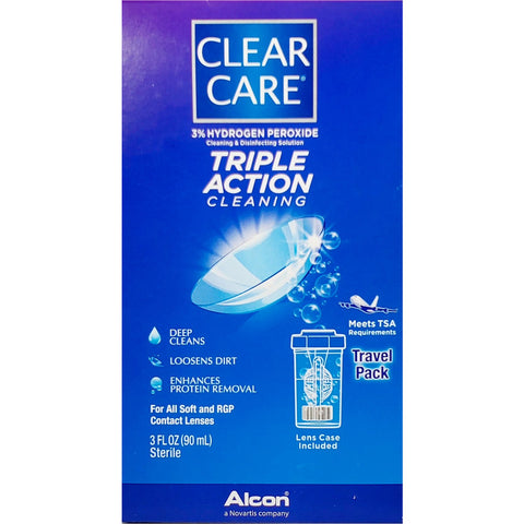 Alcon Clear Care, Cleaning & Disinfecting Contact Solution, 3 fl oz