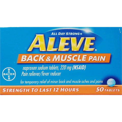 Aleve Back & Muscle Pain (Naproxen Sodium), 220 mg 50 Tablets