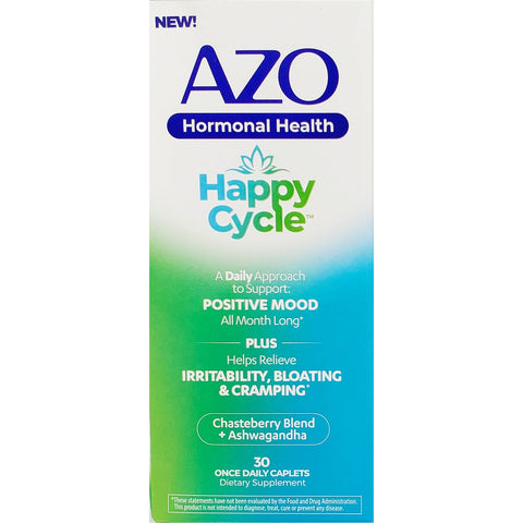 Azo Hormonal Health, (Happy Cycle) 30 Caplets