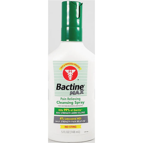 Bactine Max Pain Relieving Cleansing Spray, 5 fl oz