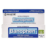 Major Extra Strength Banophen Anti-Itch Cream 1 Oz (1 Or 3 Pack) Pack First Aid