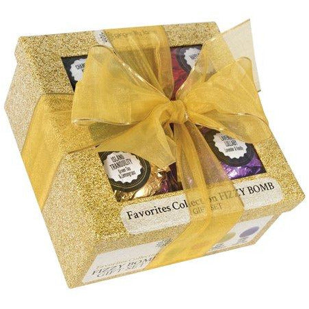 Ginger Lily Farms Fizzy Bath Bomb Gift Set Four Different Scents (1 Pack) Personal Care